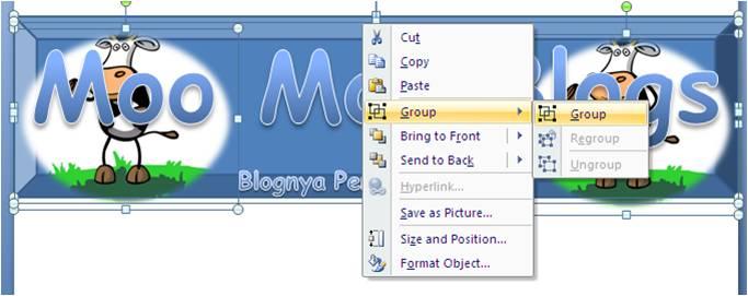 Membuat Header Blog Sendiri Dengan Menggunakan Microsoft Office Power